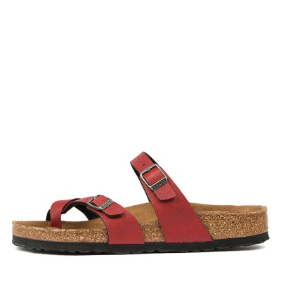 Birkenstock Mayari Pull Up Bk Bordeaux Sandals Womens Shoes Casual Sandals Flat Sandals