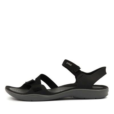 Crocs Swiftwater Webbing Black Sandals