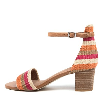 Diana Ferrari Soco2 Df Red Multi Sandals