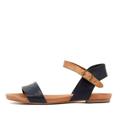 Django & Juliette Jinnit Navy Tan Sandals