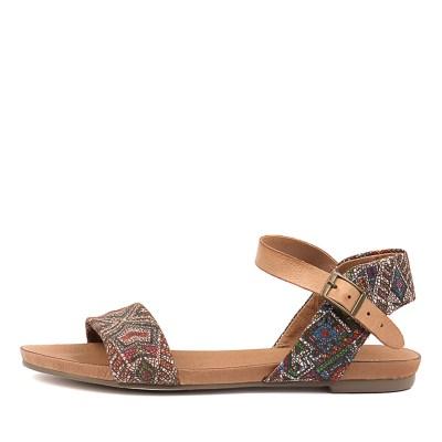 Django & Juliette Jinnit Tan Aztec Tan Sandals