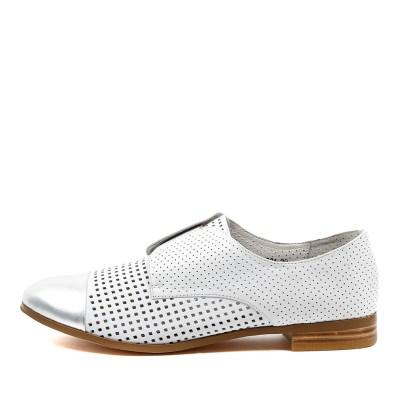 Django & Juliette Jacca Silver White Shoes