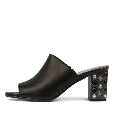 Django & Juliette Flint Black Sandals
