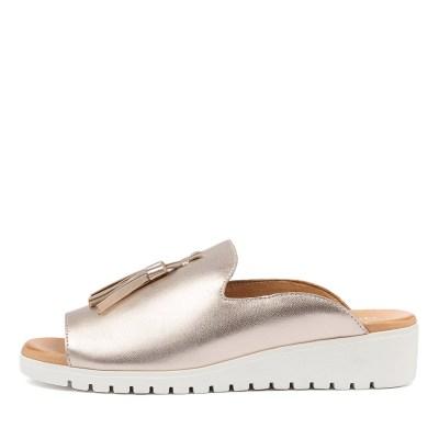 Django & Juliette Mayson Rose Gold White Sandals