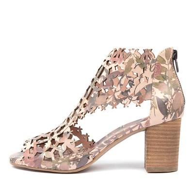 Django & Juliette Shanon Floral Print Sandals