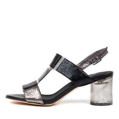 Django & Juliette Seymour Dj Pewter Multi Smoke Sandals