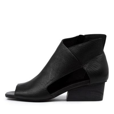 Django & Juliette Tolra Dj Black Black Heel Sandals