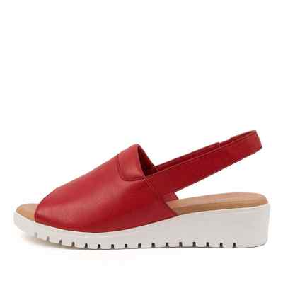 Django & Juliette Maria Dj Red White Sole Sandals Womens Shoes Casual Sandals Flat Sandals