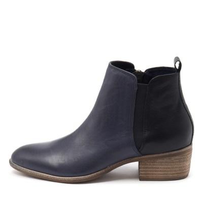 Django & Juliette Hostie Dk Blue Navy Boots