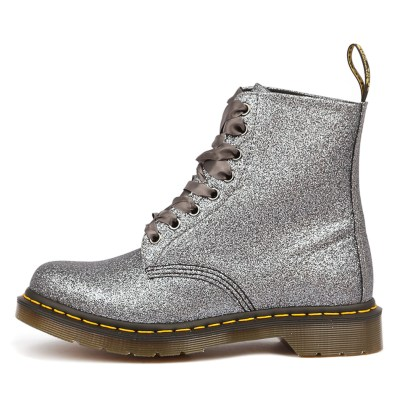 Dr Marten Pascal 8 Eye Boot Pewter Boots