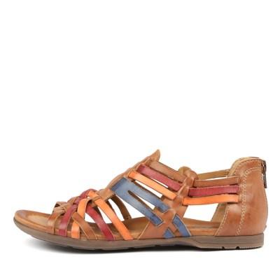 Earth Bonfire Brown Multi Sandals
