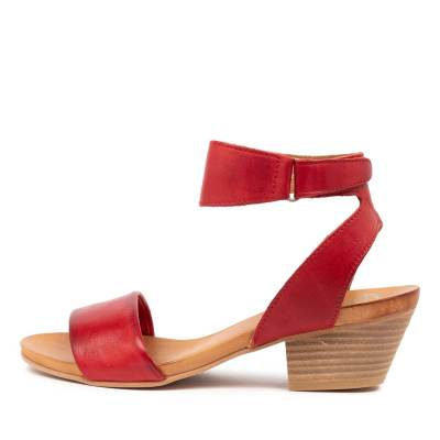 Eos Cubo W Red Antique Sandals