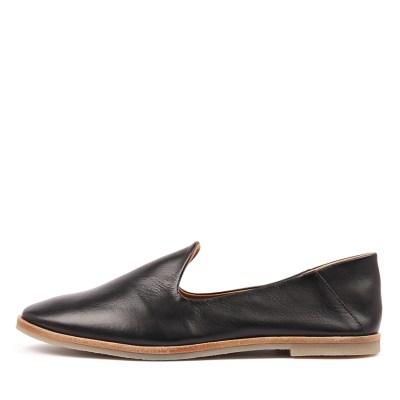 Eos Jose W Black Shoes Womens Shoes Casual Flat Shoes