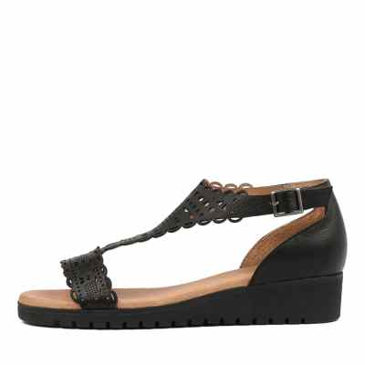 Gamins Furman Black Black Sole Sandals