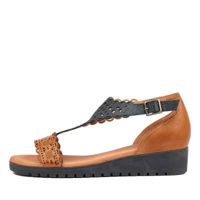 Gamins Furman Dk Tan Navy Sandals