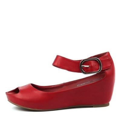 I Love Billy Tindol Red Sandals