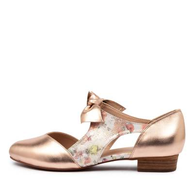 I Love Billy Estella Rose Gold Mist Daisy Metallic Shoes