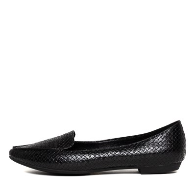 I Love Billy Burleigh Black Reptile Shoes