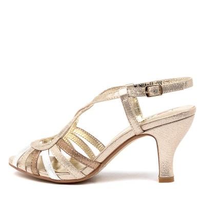 I Love Billy Amunda Il Pale Gold Multi Shimmer Sandals