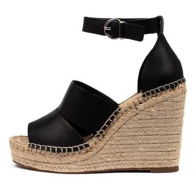 I Love Billy Lowell Il Black Sandals