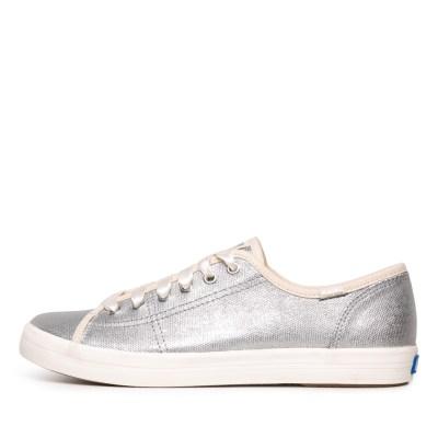 Keds Kickstart Metallic Silver Sneakers