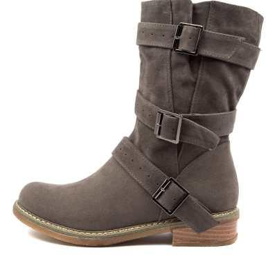 Ko Fashion Amazon Kf Taupe Boots Womens Shoes Casual Calf Boots