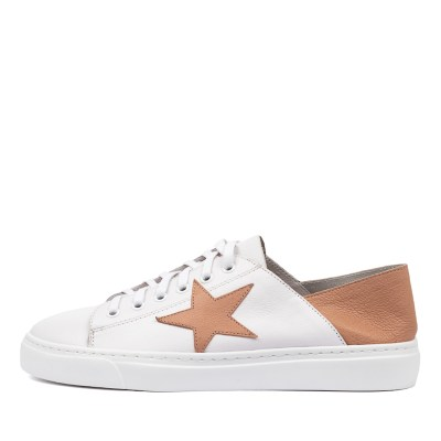 Mollini Oholiday Mo White Dk Nude Sneakers Womens Shoes Casual Casual Sneakers