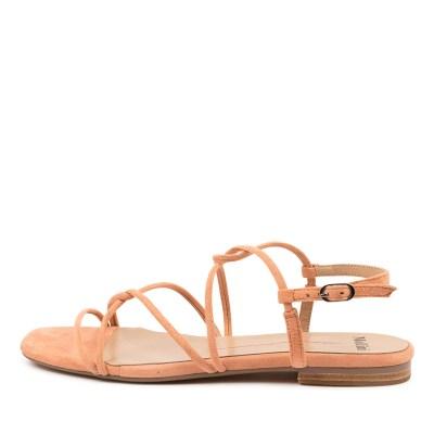 Mollini Amare Mo Peach Sandals Womens Shoes Casual Sandals Flat Sandals