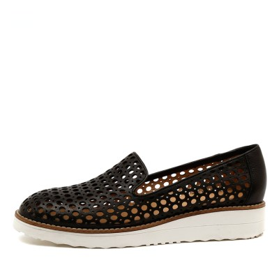 Top End Osta Black Shoes Womens Shoes Casual Flat Shoes