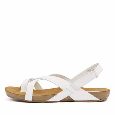 Sofia Cruz Yazmine Blanco Sandals