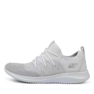 Skechers 13100 Ultra Flex Wind White Sneakers