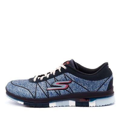 Skechers 14011 Go Flex Ability Lace Up Navy Blue Sneakers