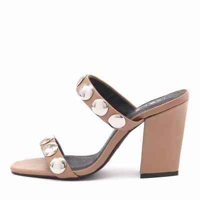 Sol Sana Sheri Heel Tan Sandals