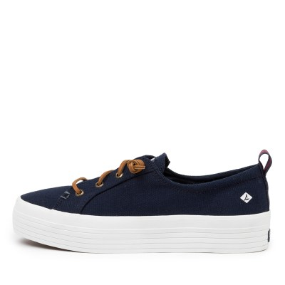 Sperry Crest Vibe Platform Canvas Navy Sneakers