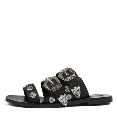 Sol Sana Eastwood Slide Black Studs Sandals