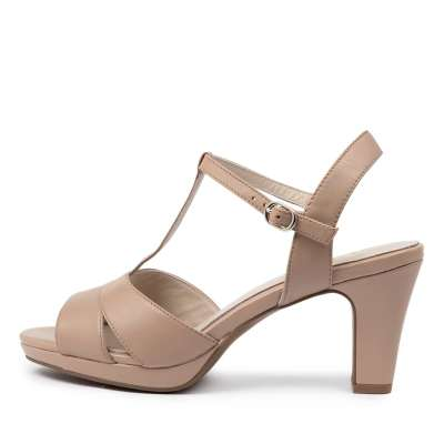 Supersoft Sable Su Nude Sandals Womens Shoes Dress Heeled Sandals
