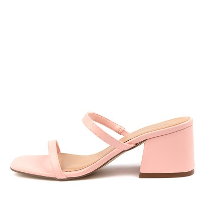 Therapy Goldie Th Pastel Pink Sandals Womens Shoes Casual Heeled Sandals