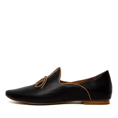 Top End Sommer Black Tan Shoes