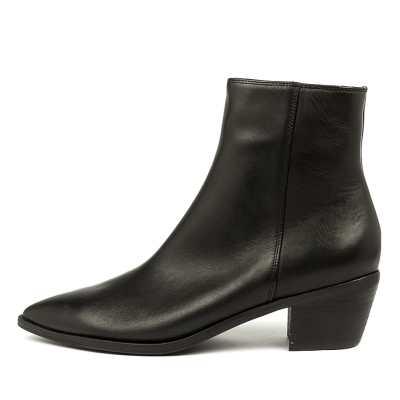 Top End Tyron Black Black Heel Boots