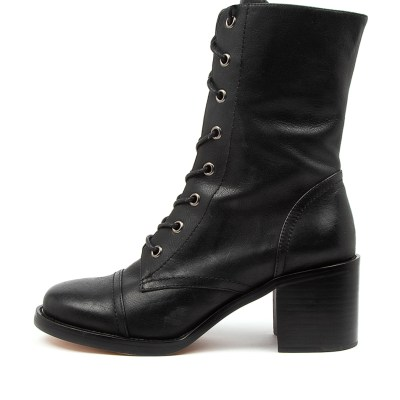 Top End Natalie To Black Boots Womens Shoes Casual Calf Boots