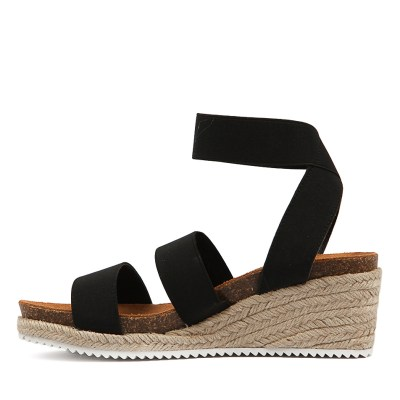 Verali Wisker Black Sandals