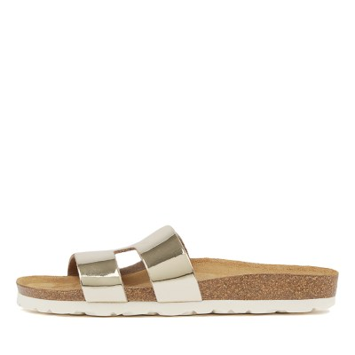 Walnut Hilary Sandal Gold Sandals