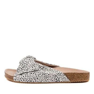 Walnut Somerset Leather Slide Wa Black Spot Sandals