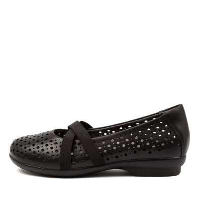Ziera Happen Xf Zr Black Shoes Womens Shoes Flat Shoes