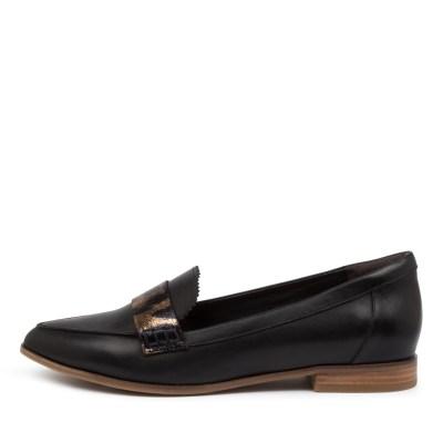 Ziera Oreta Xf Zr Black Ocelot Shoes Womens Shoes Casual Flat Shoes