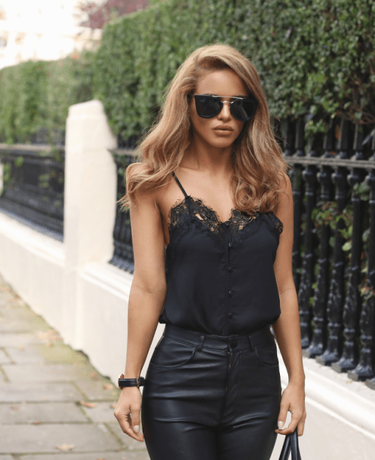 Camisole and Leather Pants