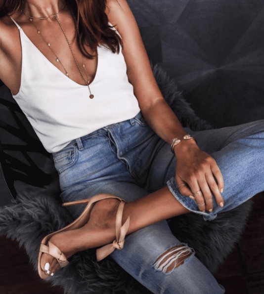 how to style a silk camisole top