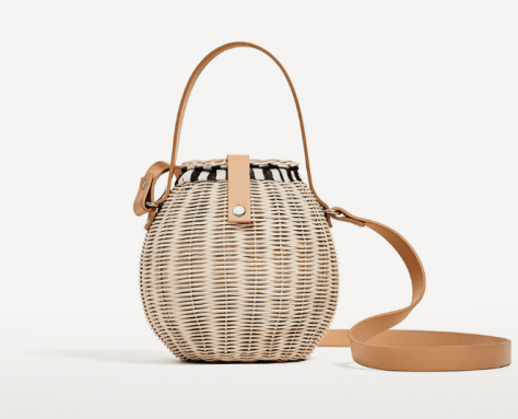 Zara Raffia Bucket Bag