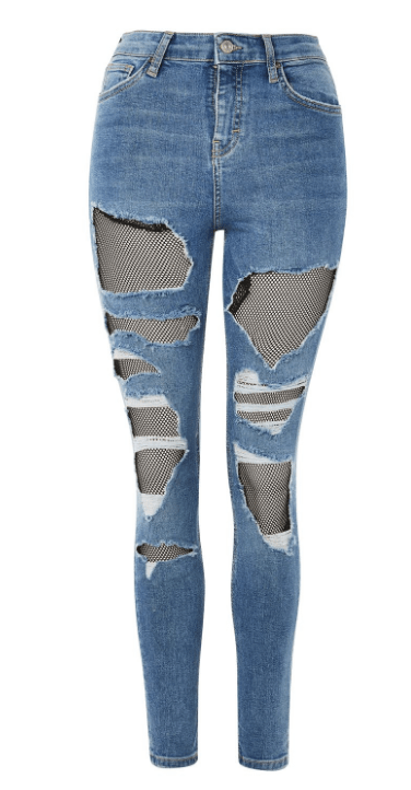 Top Shop MOTO Fishnet Jamie Jeans