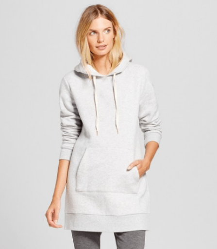 Target A New Day Hoodie Tunic Sweater Gray